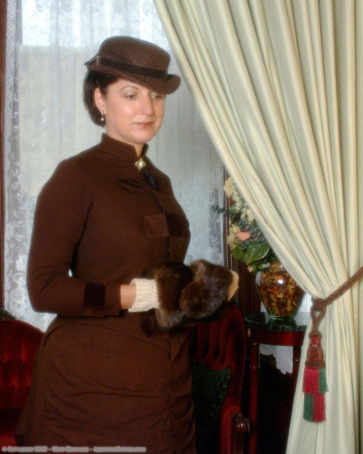 1878 Brown Wool Dress