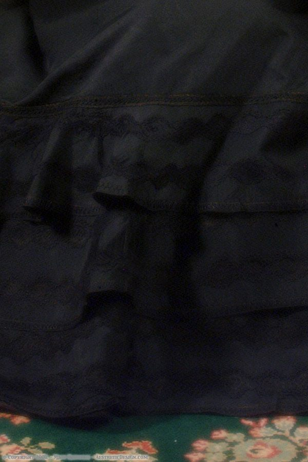 1890 Black Silk Skirt