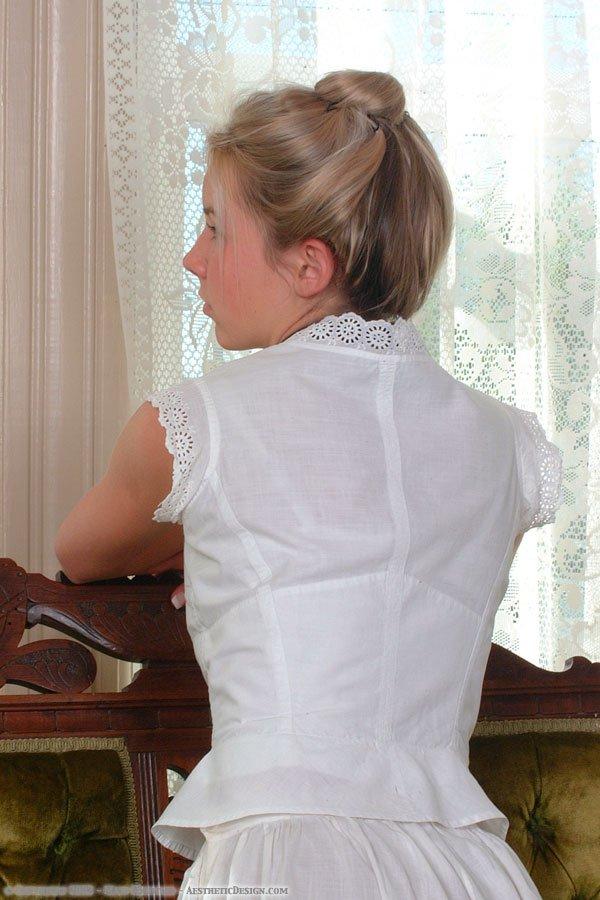 1890 White Cotton Corset Cover