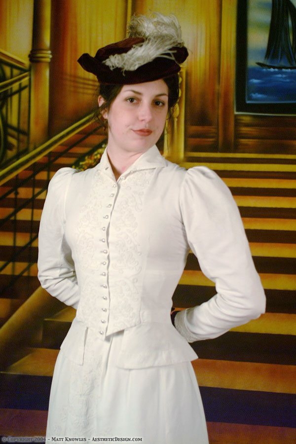 1898 White Cotton Ensemble