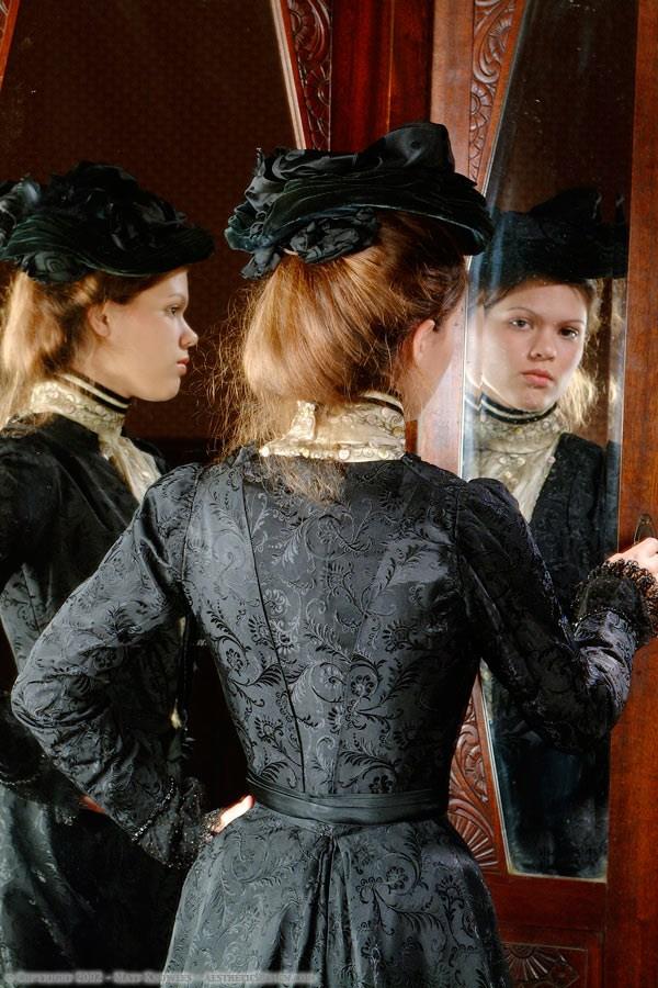 1900 Black Silk Ensemble