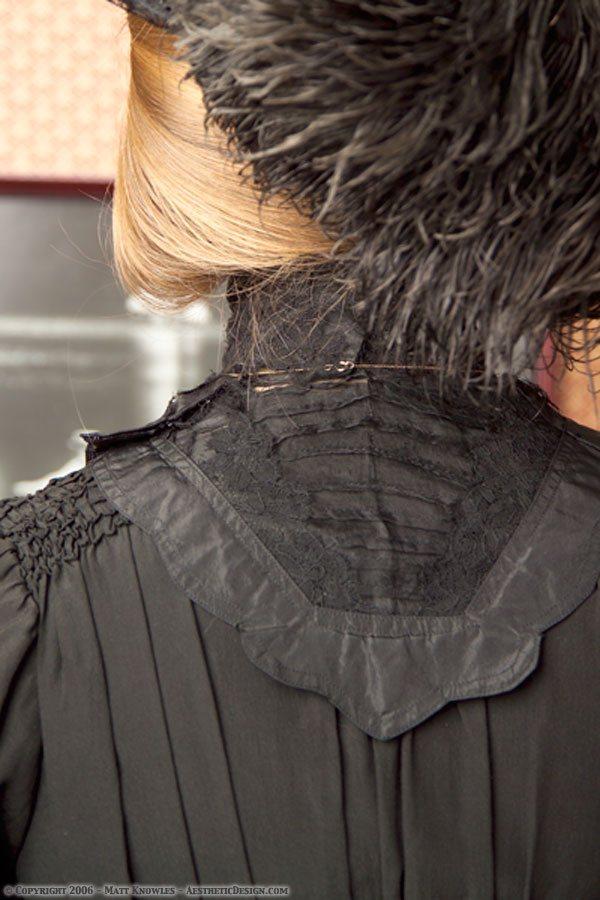 1900 Black Silk Dress
