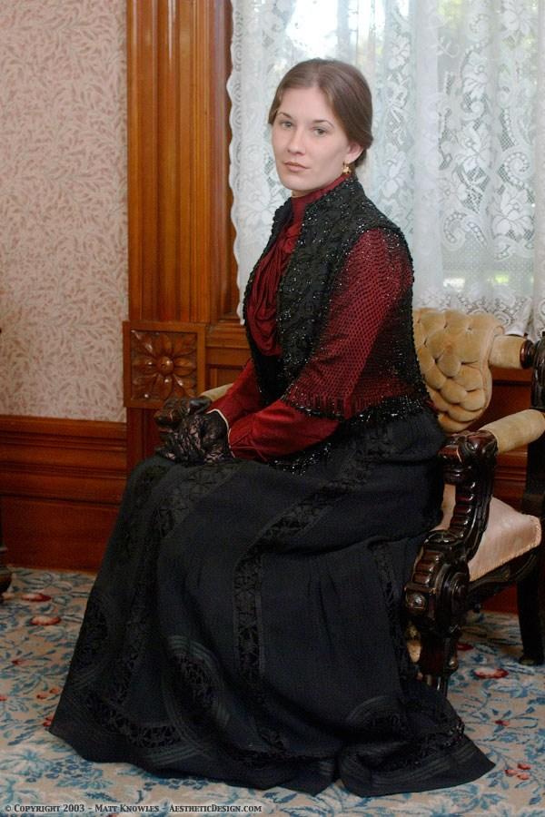 1900 Black Silk Skirt