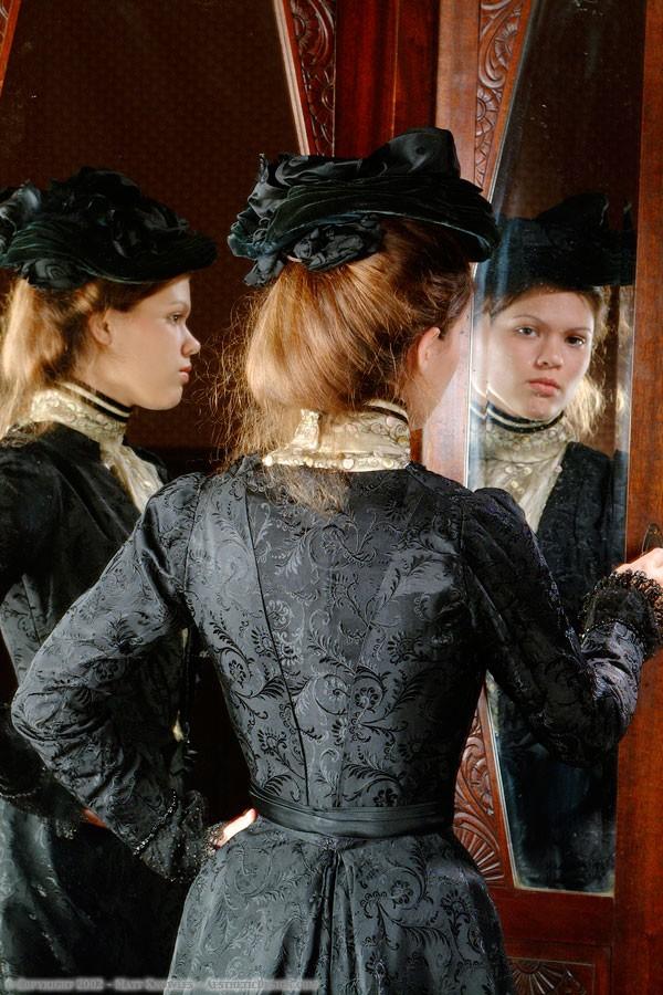 1900 Black Silk & Velvet Hat
