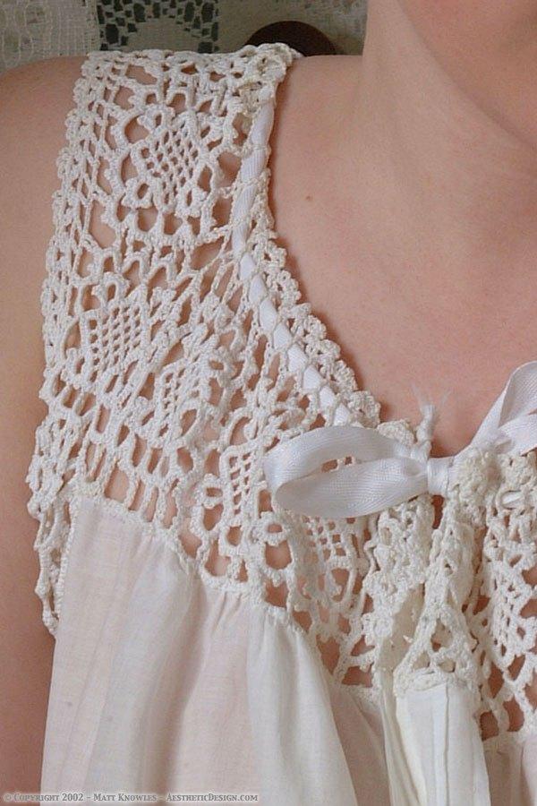 1900 White Cotton Corset Cover