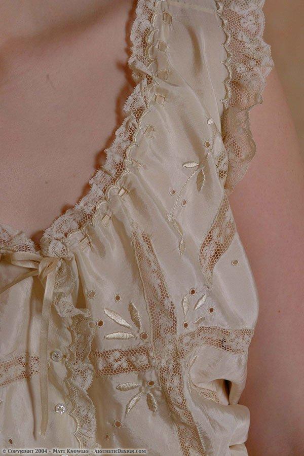 1910 Buff Silk Corset Cover