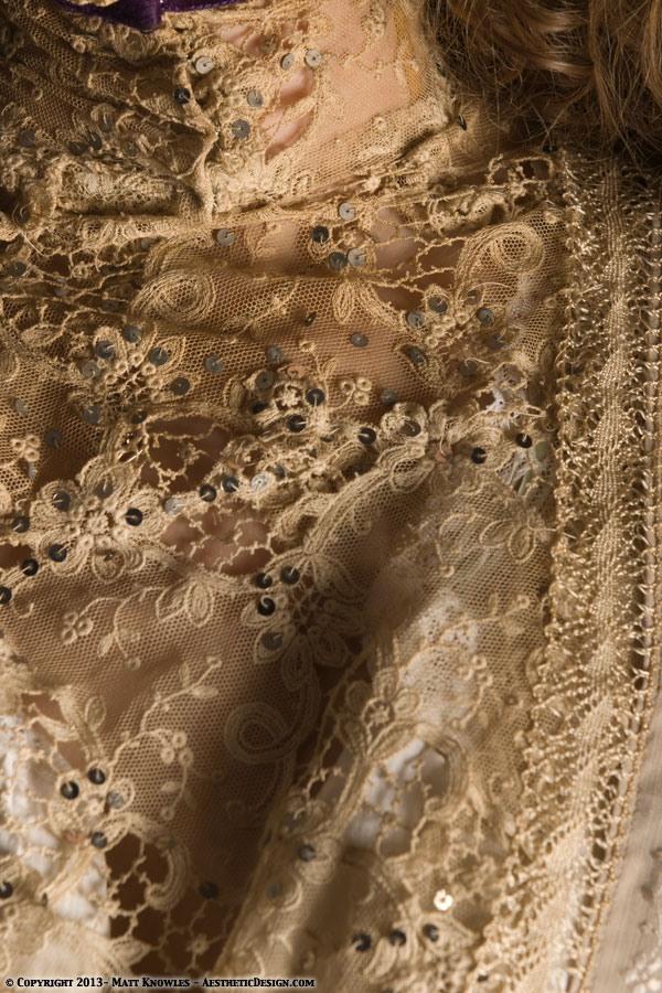 1915 Beige Cotton Dress