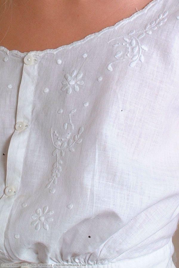 1915 Ivory Cotton Corset Cover
