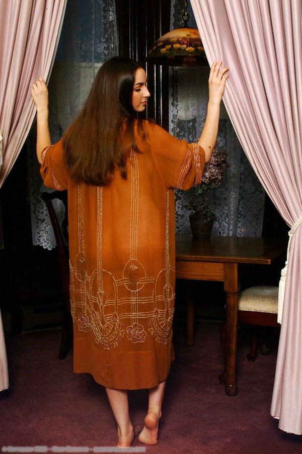 1920 Rust Silk Dress