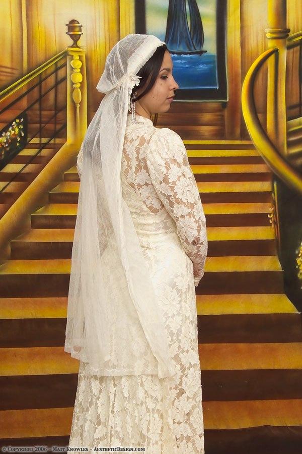 1920 White Wedding Veil