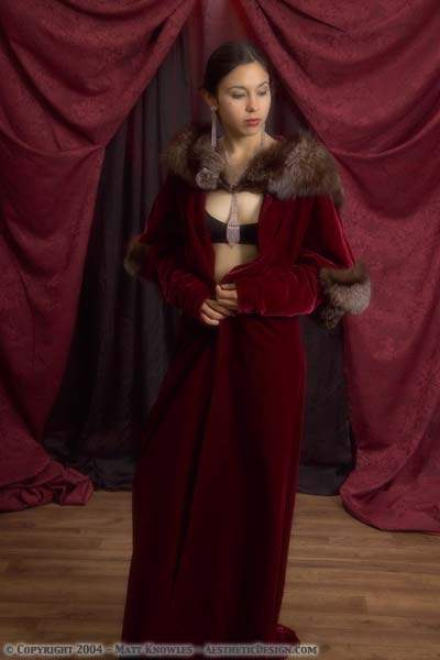 1930 Burgundy Velvet Robe