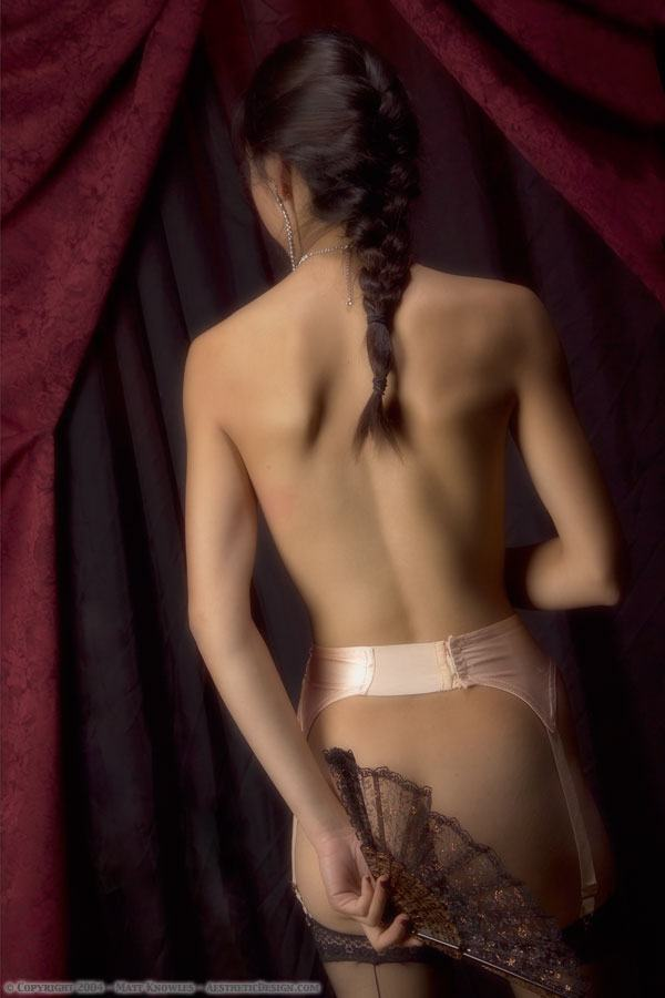 1930 Peach Silk Garter Belt