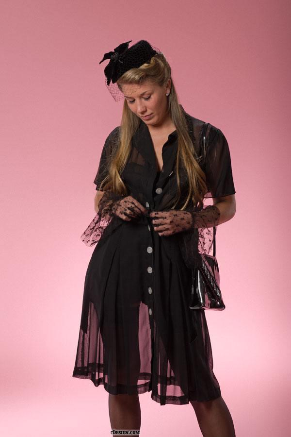 1940 Black Dress