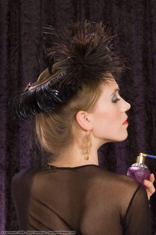 1940 Black Velvet Hat