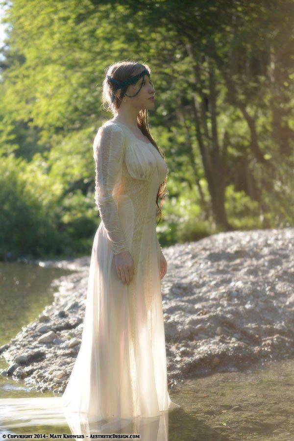 1940s Sheer Wedding Dress