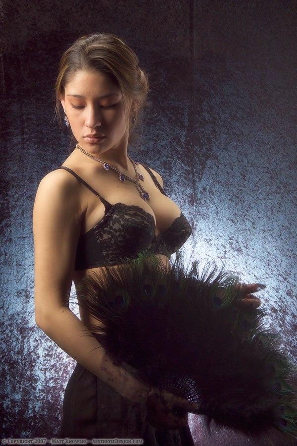 1960 Black Lace Bra