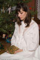 1900 White Cotton Nightgown