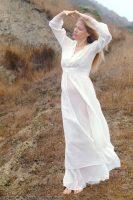 1930 White Silk Negligee & Robe