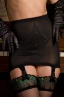 1962 Black Nylon Girdle