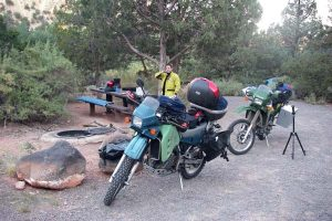 Camping with KLR650s