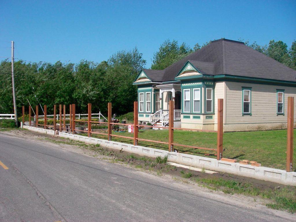April 2006 - Still just fence posts