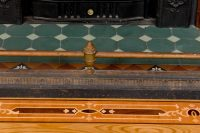 Hearth Bumper and inlay detail