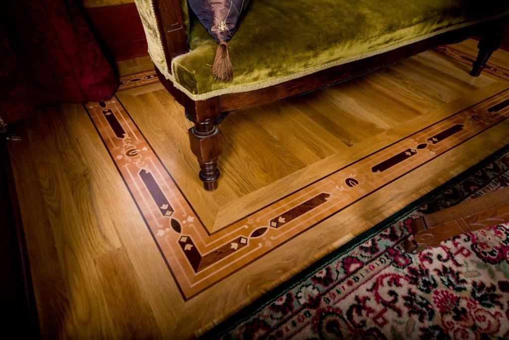 Detail of floor inlay