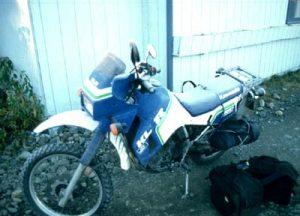 1987 KLR650 on my Alaska trip