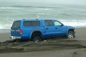 Stuck on the beach