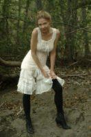 Lilli wearing vintage lingerie