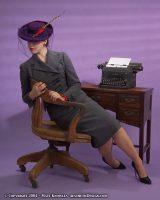 Kate modeling 1940s