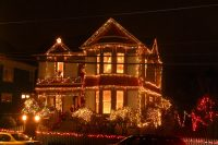 Victorian House at Christmas