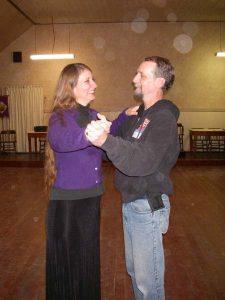 Lori and I dancing
