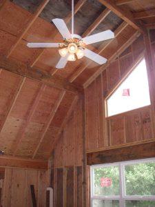 Ceiling Fan in Garage