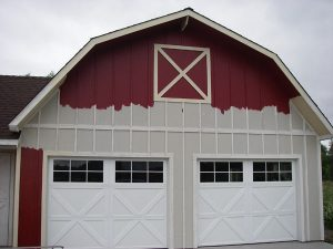 Garage being painted