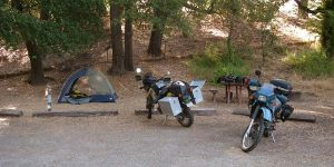 KLR650 Camping