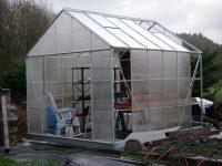 Damaged greenhouse