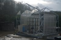 Greenhouse damaged in wind storm