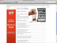 Hearing aid ad