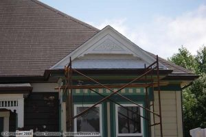 Painting the gable