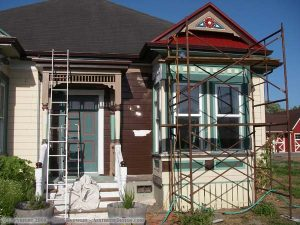 Painting the front
