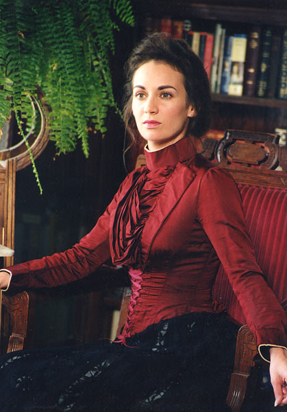1880 Burgundy Silk Bodice