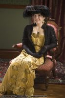 1880 Gold Beaded Skirt