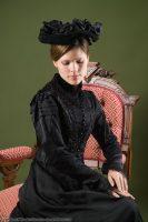 1885 Black Silk Bodice