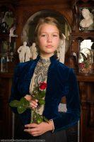 1888 Blue Velvet Bodice