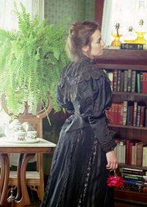 1890 Black Silk Beaded Bodice