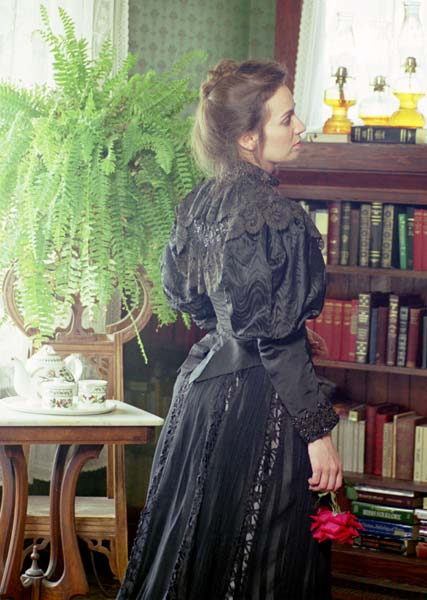 1890 Black Silk Beaded Bodice