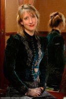 1890 Blue Velvet Bodice