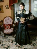1890s Black & Champagne Ensemble