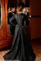1900 Black Silk Ensemble